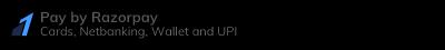 Credit Card/Debit Card/NetBanking/UPI